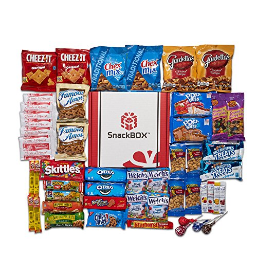Care Package for College Students, Military, Birthday, or Back to School (50 Count) From Snack Box … (Send Snack Gift Basket)