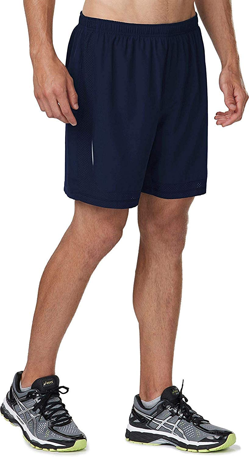 R-Gear Men's 2-in-1 Running Workout Gym Shorts, 6-Inch Length, Inner Compression Shorts, Multiple Pockets | Power-Up