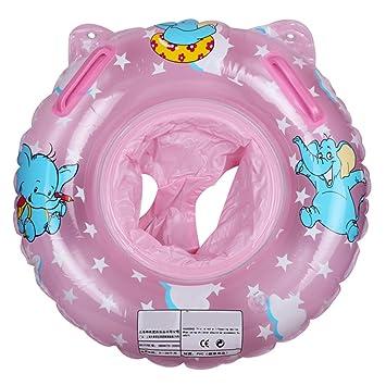 Angelbubbles Flotador para Bebé Anillo de la Nadada del bebé Infante Flotador de aprendizaje de Natación para Niños Inflable Flotador Piscina Bano (Rosa): ...