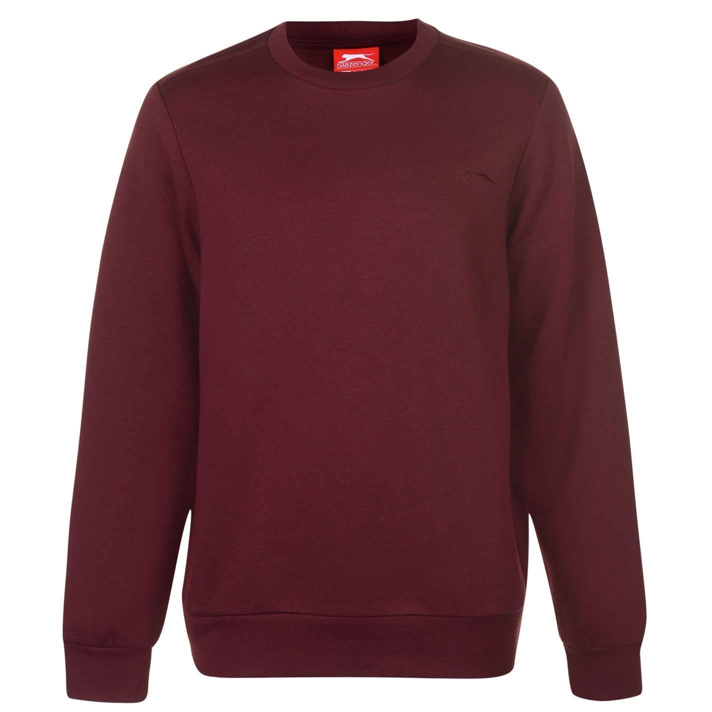 680b6468394 Slazenger SL Fleece Crew Sweatshirt Mens Sweater Top Jumper: Amazon.co.uk:  Clothing