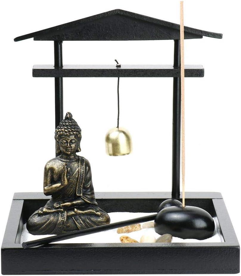 YYW Buddha Resin Incense Sticker Burner Holder, Zen Statue Ornament for Home Décor (1:15x14x13cm)