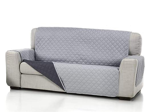 Lanovenanube Belmarti - Funda sofá Acolchado - Práctica - 2 plazas Plus - Color Gris Claro C21