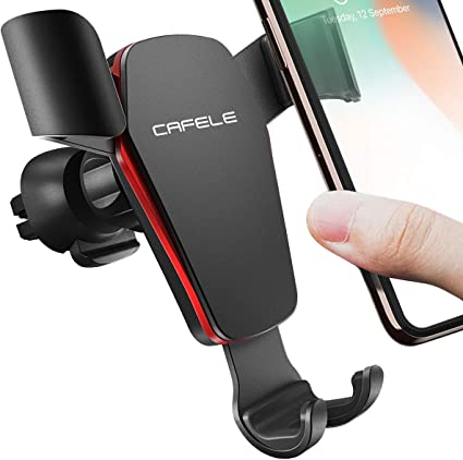 Samsung S10 Plus S9 S8 S7 S6 Google Universal Cell Phone Holder for Car Auto Locking Angle Free Cradle Compatible for iPhone XR XS Max X 8 7 6 Plus CAFELE Car Phone Mount Air Vent Holder