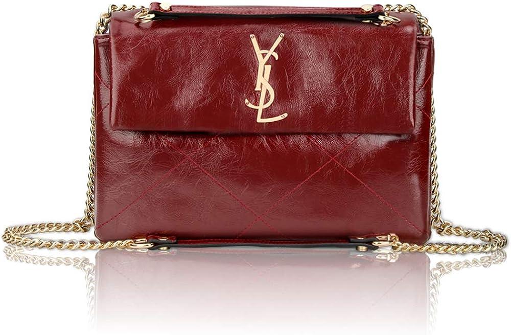 AUSTRY Leather Shoulder Bag...