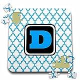 BrooklynMeme Designs - Blue pattern monogram initial D - 10x10 Inch Puzzle (pzl_252277_2)
