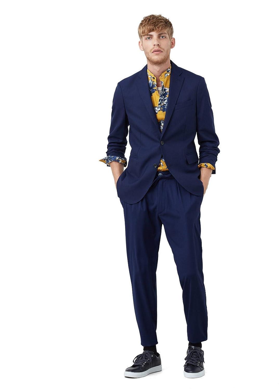 MANGO MAN - Unstrukturierter slim fit Freizeit woll-blazer