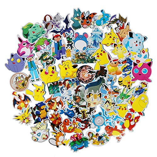 Meet Holiday Pokemon Stickers 60 pcs Laptop Stickers,Motorcycle Bicycle Luggage Decal Graffiti Patches for Teens