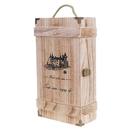 Exing - Botellero de Madera para Vino Tinto, diseño Vintage ...