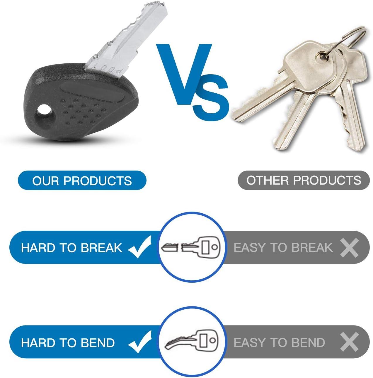 1//4 Diameter Fits 1 to 3 Coupler Span Adjustable Span Trailer Coupler Lock METOWARE Swivel Head Trailer Coupler Lock