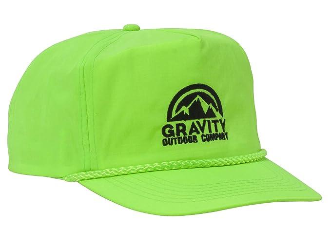062bf168fa3b92 Gravity Outdoor Co. Logo Bright Neon Adjustable Nylon Baseball Hat ...