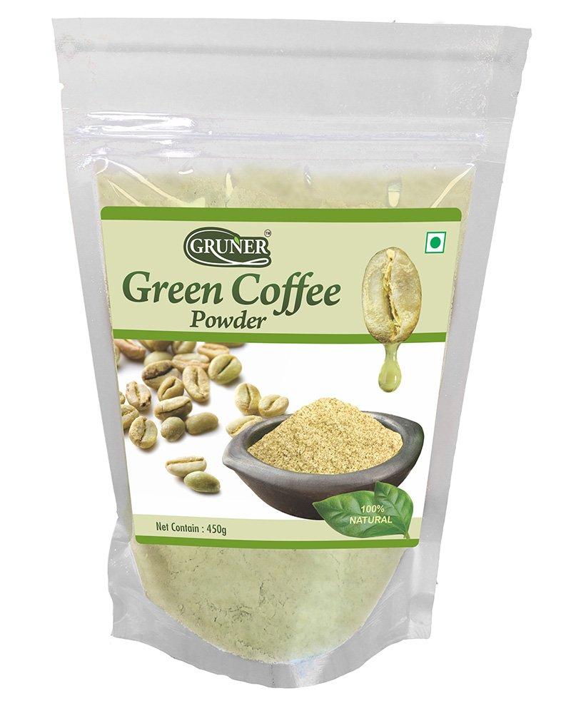 Gruner Natural Unroasted Green Coffee Powder Each 450 gram