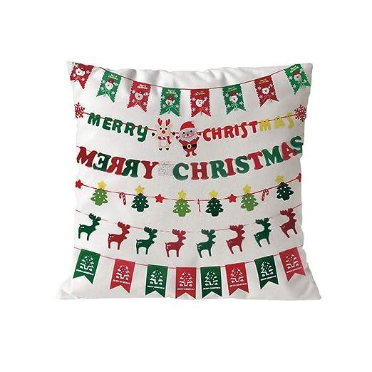 Allywit Merry Christmas - Funda de Almohada para cojín con ...