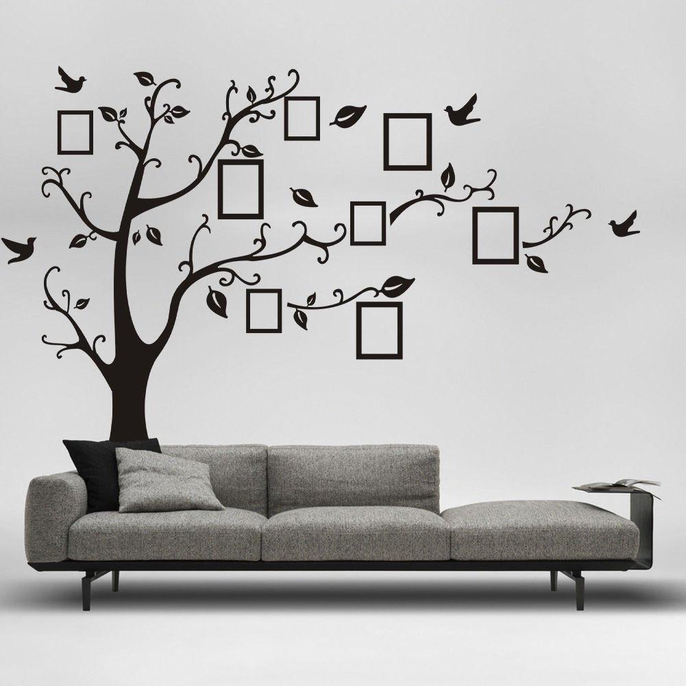 Wandtattoo Stammbaum XXL Baum mit Vögeln und Bilderrahmen 250 x ...