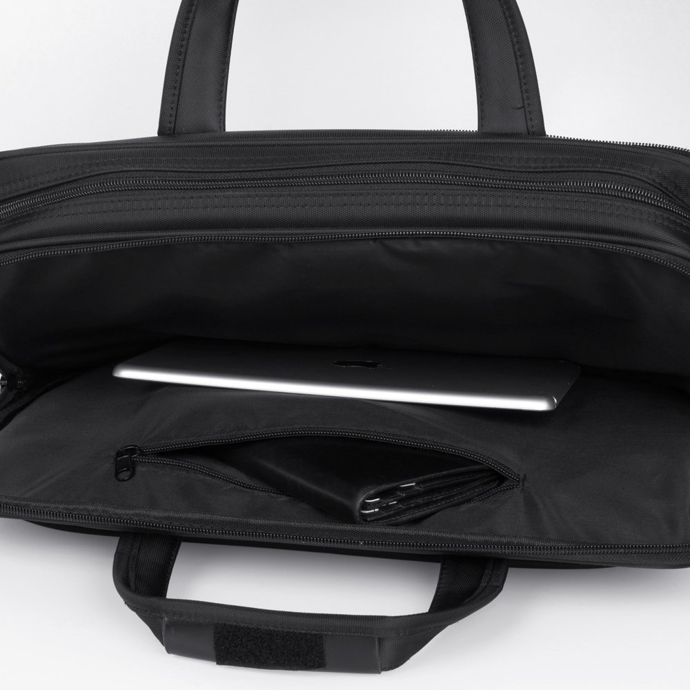 KOPACK Expandable Laptop Briefcase 17 17.3 Inch Large Business Water Resistant Shoulder Computer Bags Black by kopack (Image #9)