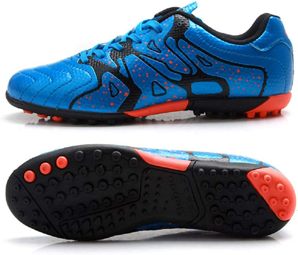 Kids Indoor Soccer Football Shoes Indoor Turf Patent Synthetic Leather