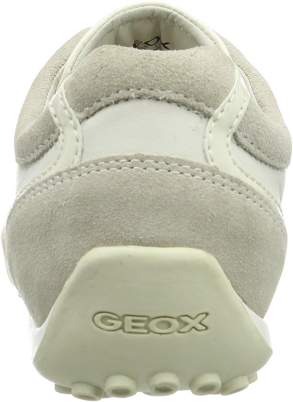 Geox D Snake X, Baskets Basses Femme Écru Off Whitec1002