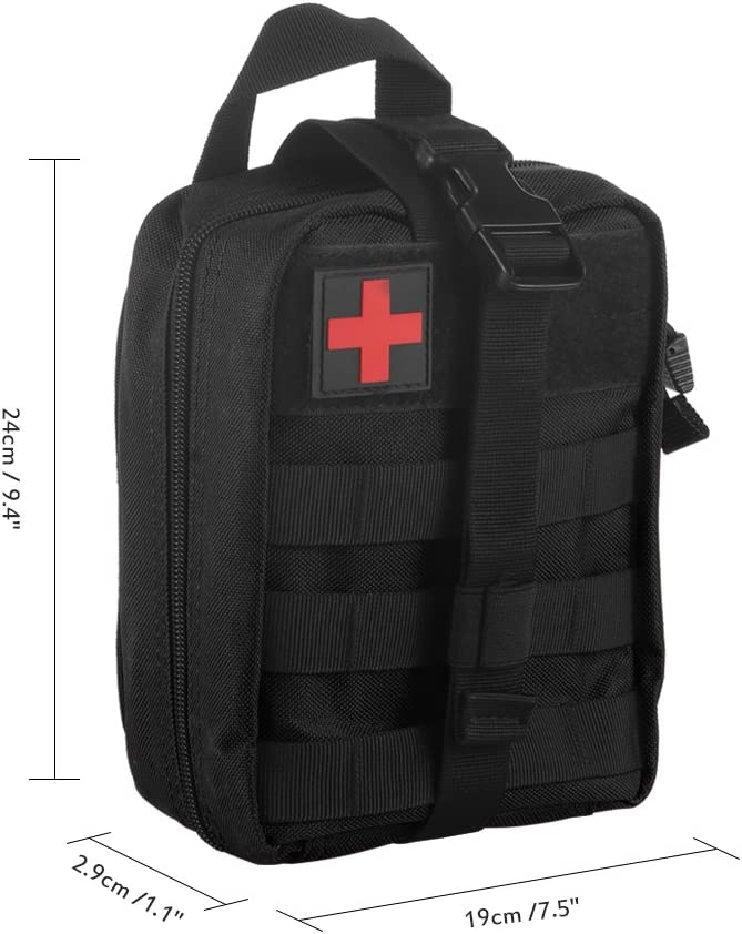 ONEVER Kit de Primeros Auxilios Kit de Supervivencia t/áctico Molle Rip-Away EMT Bolsa de Bolsa IFAK Medical para situaciones de Emergencia de t/áctica