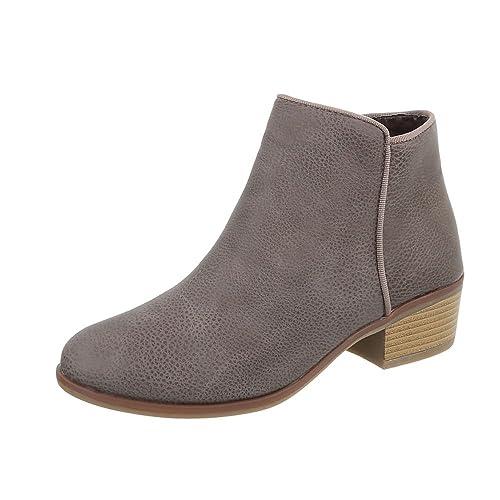 Zapatos para mujer Botas Tacón de vaquero Botines clásicos beige Tamaño 41: Amazon.es: Zapatos y complementos