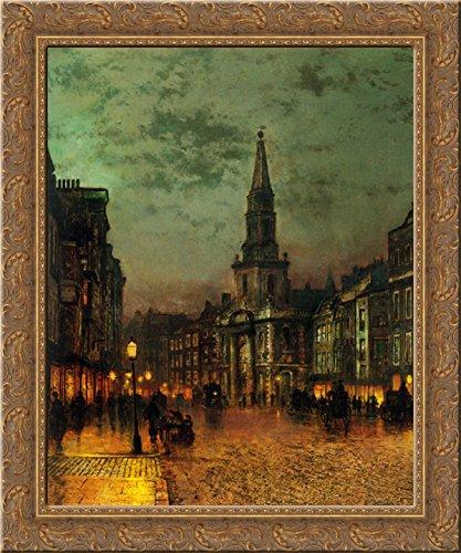 Blackman Street, London 20x23 Gold Ornate Wood Framed Canvas Art by Grimshaw, John Atkinson