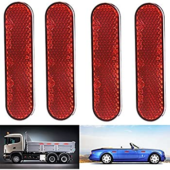 uxcell 6 Pcs Red Exterior Reflective Safety Warning Self-adhesive Tape Sticker for Car a17010200ux0325