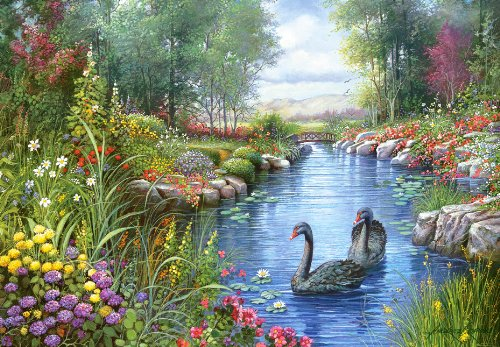 1500-Piece CSC151042 Castorland Black Swans Andres Orpinas Jigsaw