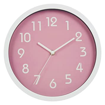 Binwo Modern Colorful Stylish Elegant Silent Non Ticking Home Kitchen Living Room Wall Clock