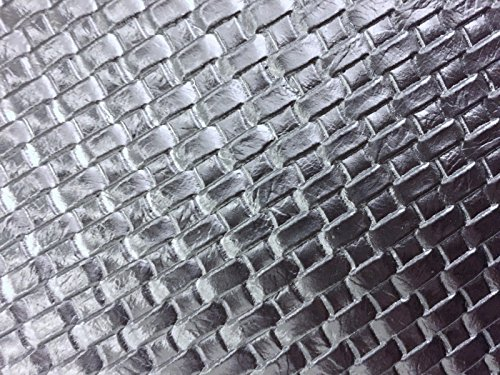 Silver Basket Weave Woven Upholstery Vinyl Fabric - Sold By The Yard - 54
