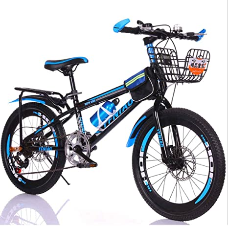 MYMGG Velocidad Única Bicicleta Infantil 20/24 Pulgadas Doble Freno De Disco Bicicleta De Montaña Adecuado para Niños Mayores De 8 Años: Amazon.es: Deportes y aire libre
