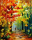 #7: DIY Paint-by-Number Kit for Adults - Autumn Walk (Frameless) - Includes Brushes, Paints and Numbered Canvas - 16'' x 20'' - Great for kids and adults - by Red Stapler