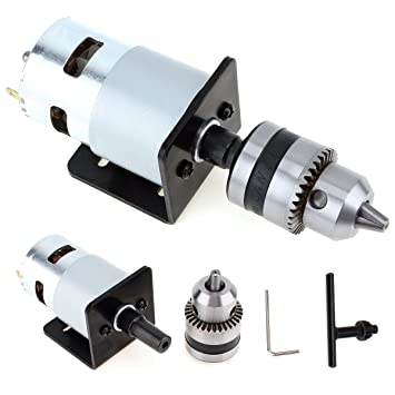 EsportsMJJ 5V-12V Lathe Press 555 Motor With Micro Drill Chuck And Mounting Bracket