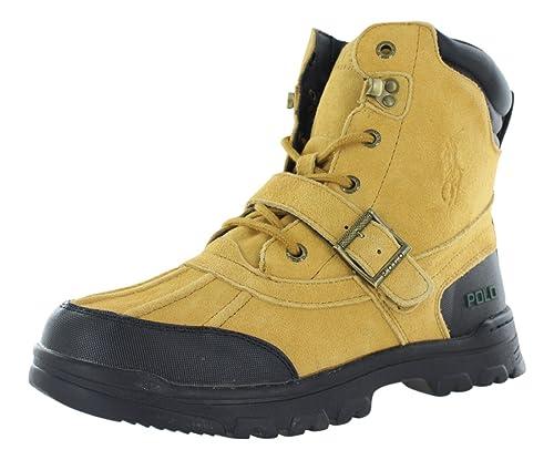 9e37cc78d7 Ralph Lauren Polo Country Boots Kid's Gradeschool Shoes Size 6.5 Tan/Black