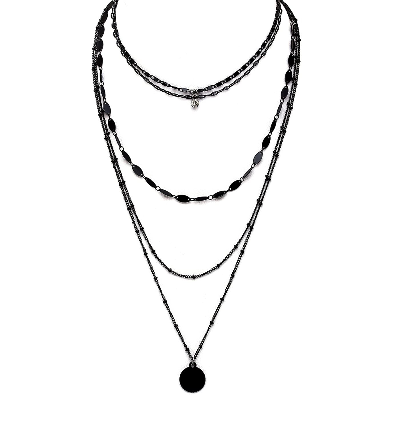 gem necklace stone products multilayer set n scarlettjewelry
