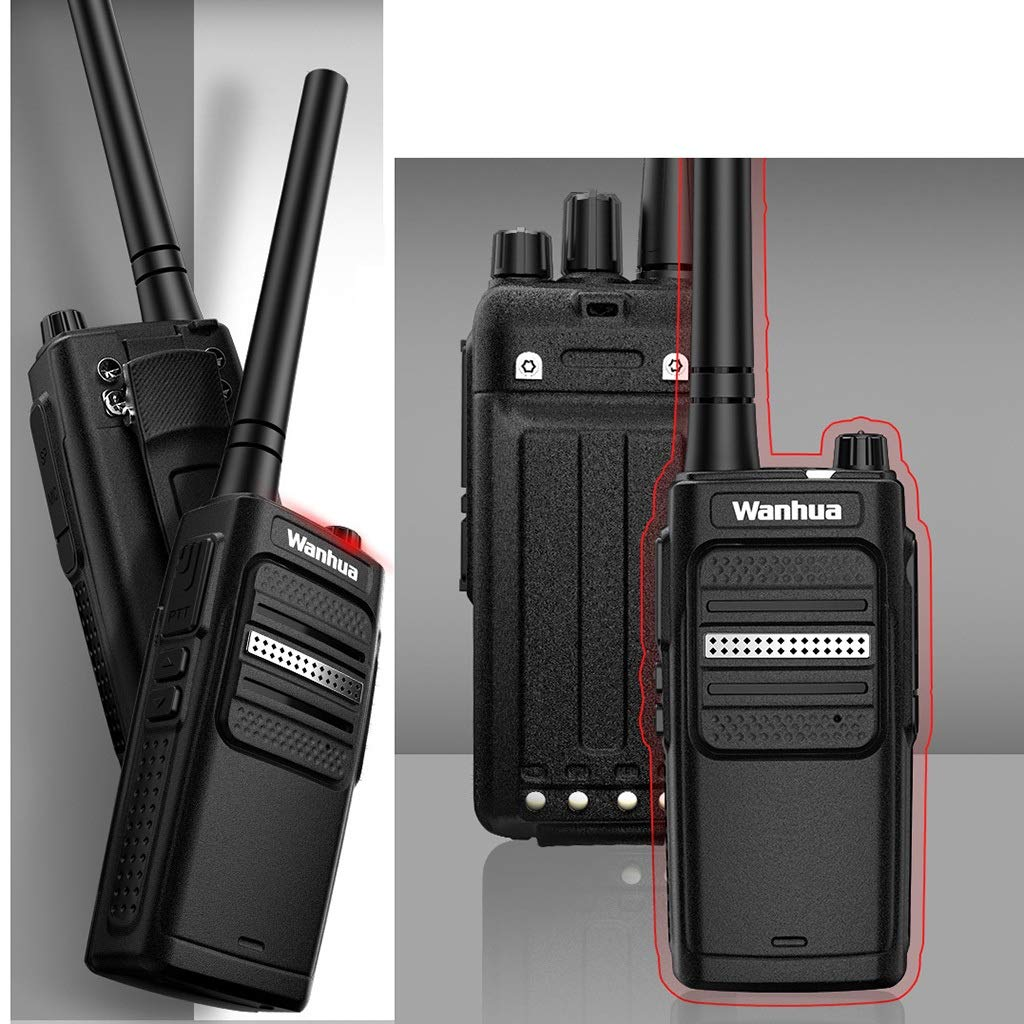 Nelc5kl Walkie Talkies Rechargeable Long Range Two-Way Radios with UHF 400-470Mhz Walkie Talkies 4800 mAh Li-ion Battery and Charger Included Radio (Size : E)