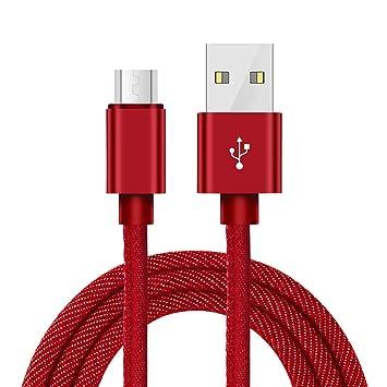 Cable Micro USB, Cable Android Cargador de Carga rápida USB ...