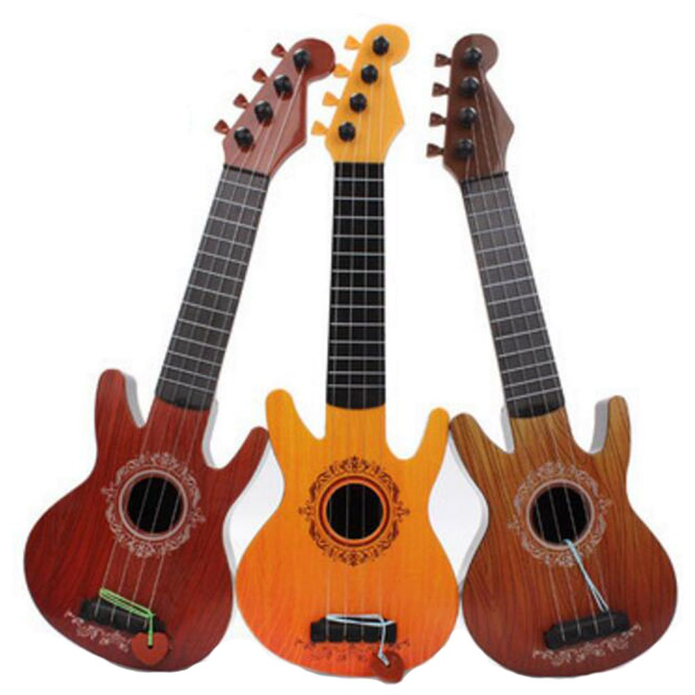 1PC Middle Size Musical Instrument Azure Fashionable Guitar For Kids Guitar Players - Random Color George Jimmy