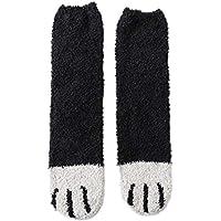 Winter Cat Claw Paw Socks, Cute Thick Warm Sleep Floor Comfy Fuzzy Plush Socks