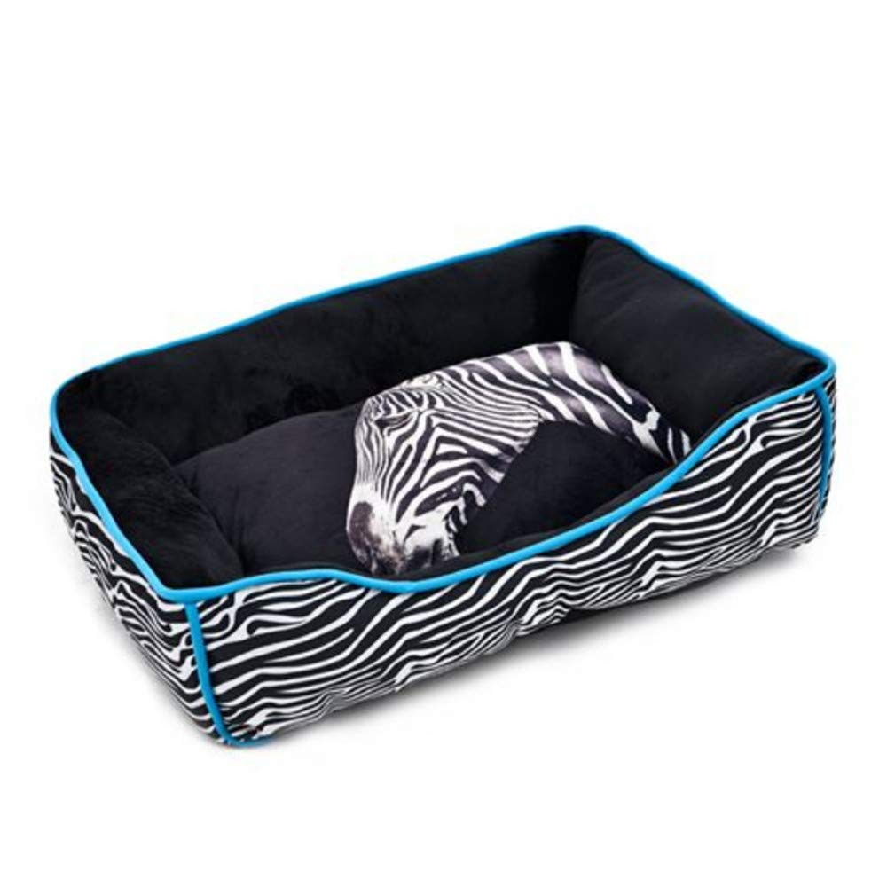 L Wuwenw Super Pet Bed Animal Pattern Zebra Leopard Giraffe 3D Tailor-Made Dog Cat Kennel Soft For Dog Puppy 4 Size,L