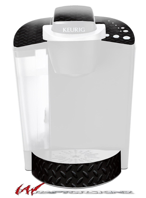 ダイヤモンドプレートメタル02ブラック – デカールスタイルビニールスキンFits Keurig k40 Eliteコーヒーメーカー( Keurig Not Included )   B018ZYCCIK