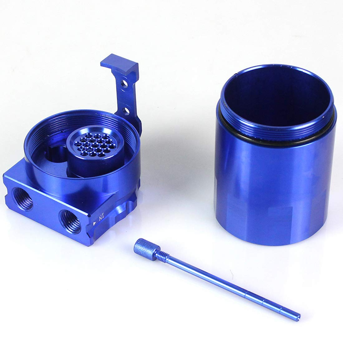 Blue Drain Valve Port 2 TYSKL Universal Aluminum 400ml Oil Catch Can Car Truck Engine Oil Catch Can Tank Polish Baffled Reservoir