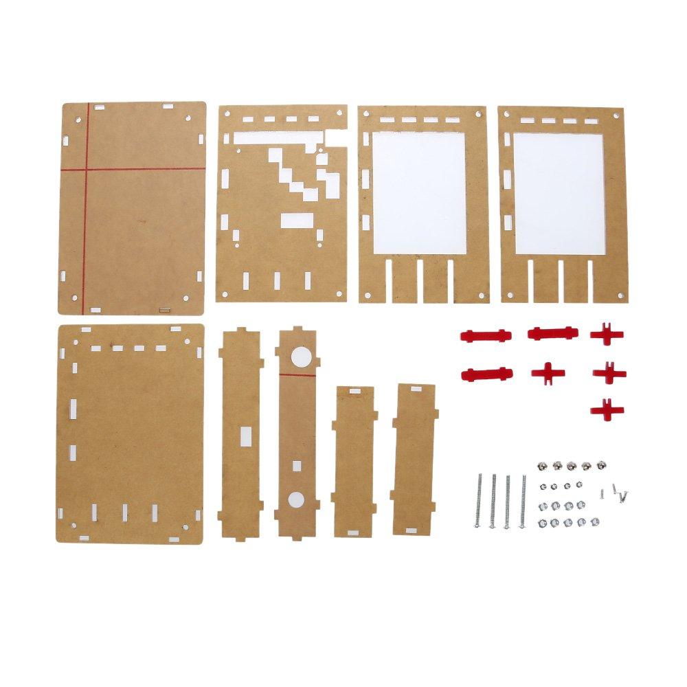 Acrylique DIY Bo/îtier rigide pour dso138 kkmoon dso138/2.4/TFT Handheld Format de poche Oscilloscope num/érique Kit SMD braser