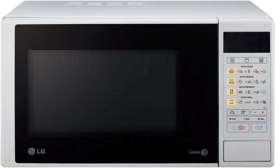LG MH6342DS - Microondas y grill, 23 litros, 800W, color plateado ...