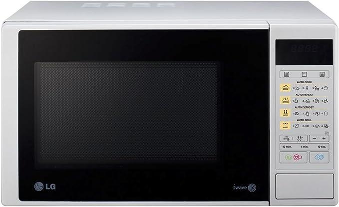 LG MH6342DS - Microondas y grill, 23 litros, 800W, color plateado: Amazon.es: Hogar