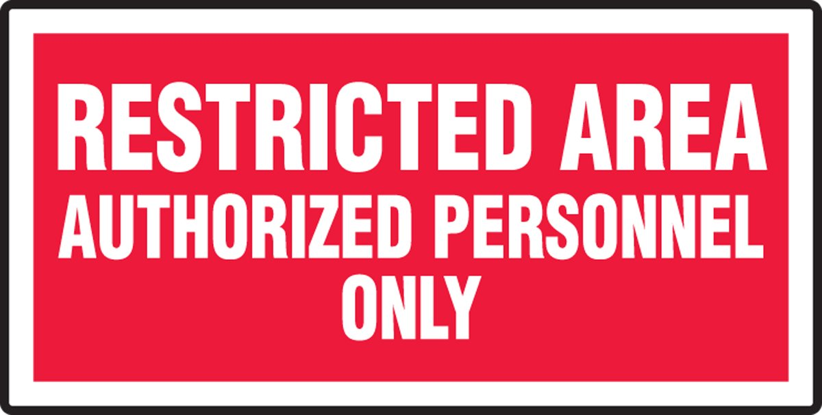 7 Height 14 Wide 7 x 14 LegendRestricted Area Authorized Personnel Only 7 Height White On Red Accuform MADM972VS Adhesive Vinyl Sign LegendRestricted Area Authorized Personnel Only Vinyl 7 Length 7 Length x 14 width x 0.004 Thickness