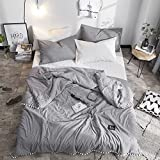 Trasign Solid Thin Comforter Cotton Lightweight Kids Quilt Queen Modern Pompoms Design Breathable Bed Blanket (Grey, Queen)