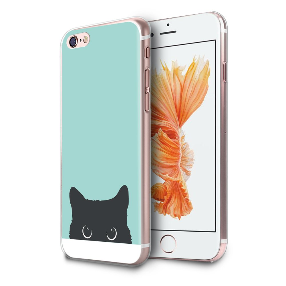 innovative design 863c7 d7dd9 HelloGiftify iPhone 6 / 6s Case, Tiffany Blue&Cat TPU Soft Gel Protective  Case for iPhone 6/6s