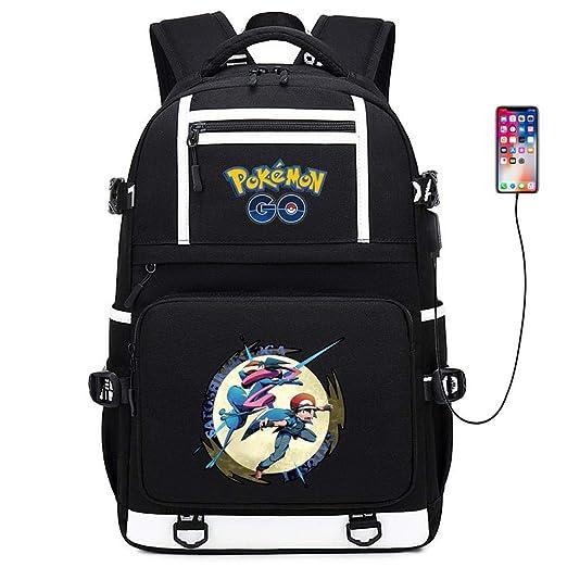 t Bolsa De Carga USB Pokémon Mochila Pikachu Bolsa para ...