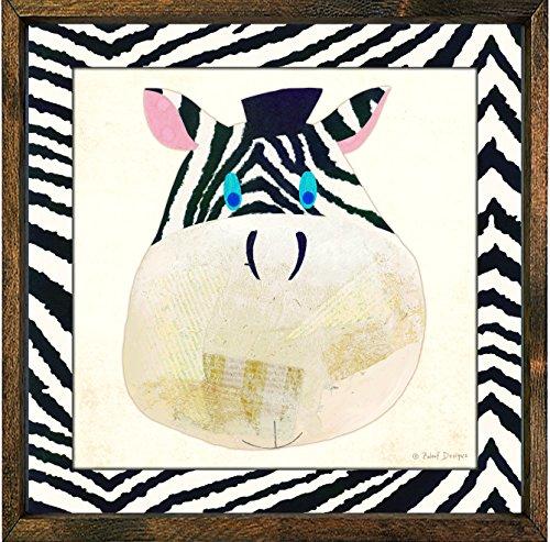 Forest Creations Magnet Art Print, Black, Zebra
