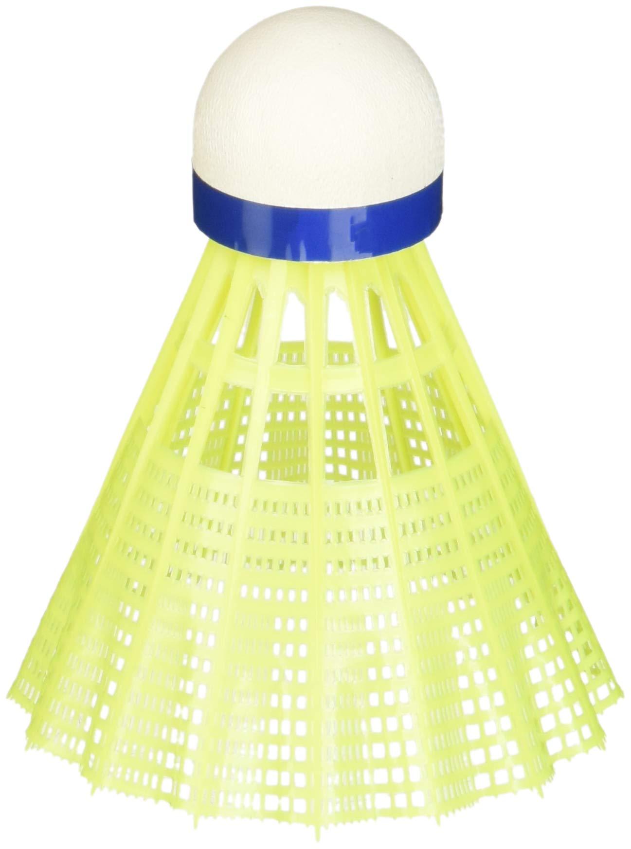 Yonex Mavis 300 Medium Speed Nylon Plastic Shuttlecock (Yellow, Pkg of 2 tubes (12 pcs))