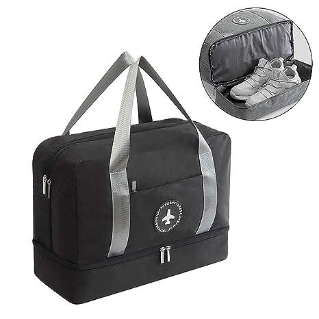 76d0c003b63 HOKEMP Waterproof Gym Bag with Shoe Compartment Swim Bag Travel Weekender  Dry Wet Depart Mesh Tote