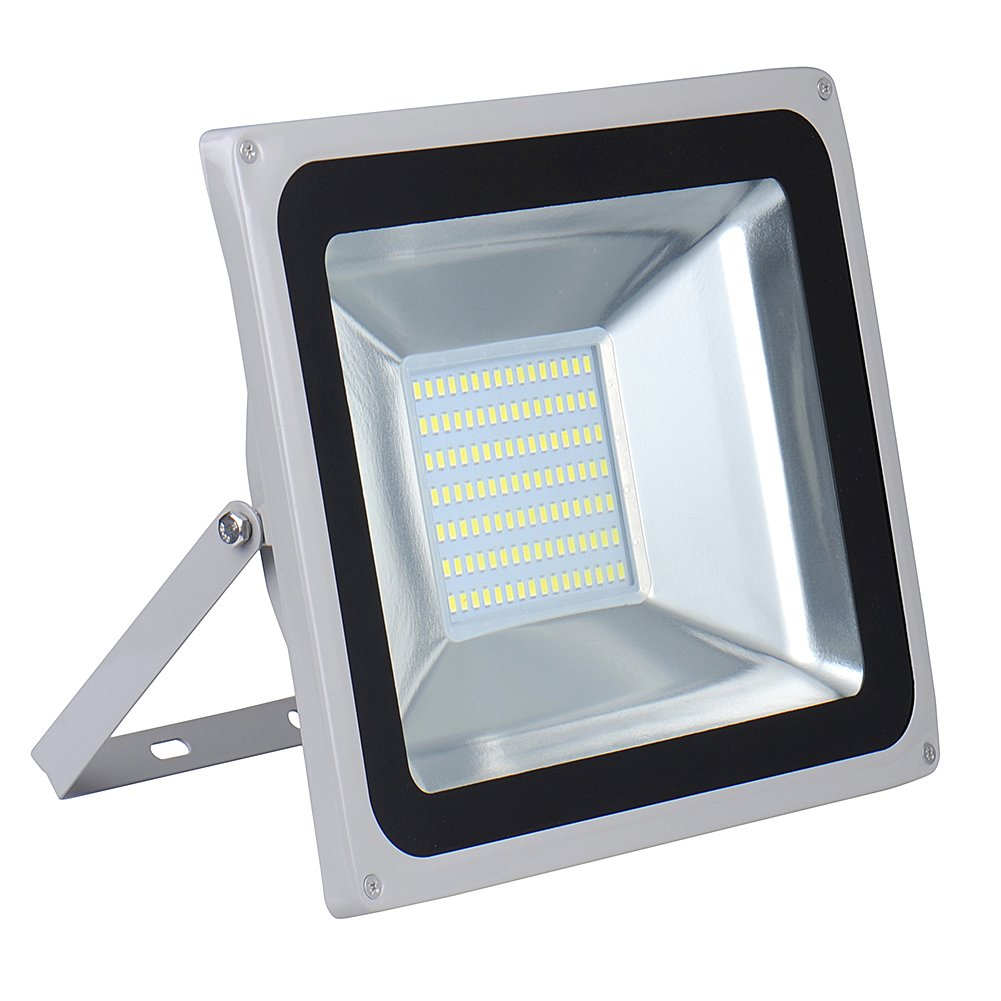 100W LED Floodlight,Low-energy Cool White Spotlight,IP65 Waterproof Outdoor&Indoor Security Flood Light Landscape Lamp